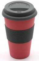 Bamboo Coffee to go cup nature red