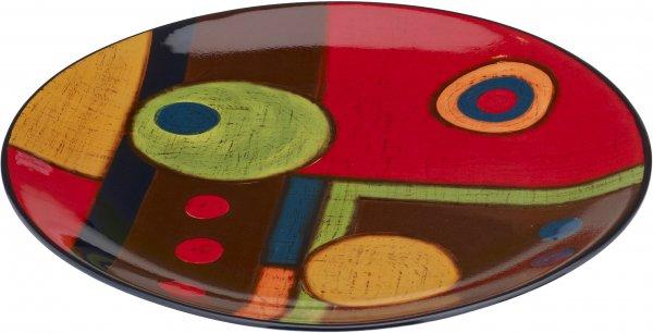 """Keramik Frühstücksteller20cm handbemalt """"SAMBA"""" - Magu 190 312"""