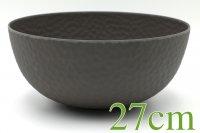 """ROCKY"" Bamboo bowl 27cm slate"