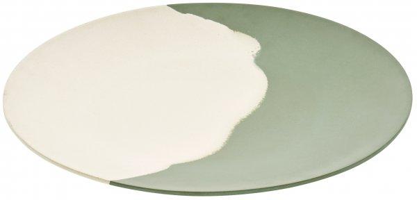 Magu Teller flach 35cm Natur-Design green flowTeller flach 35cm Natur-Design green flow