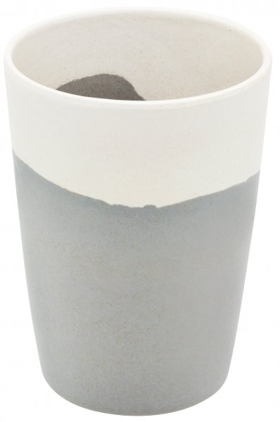 Bamboo cup water blue