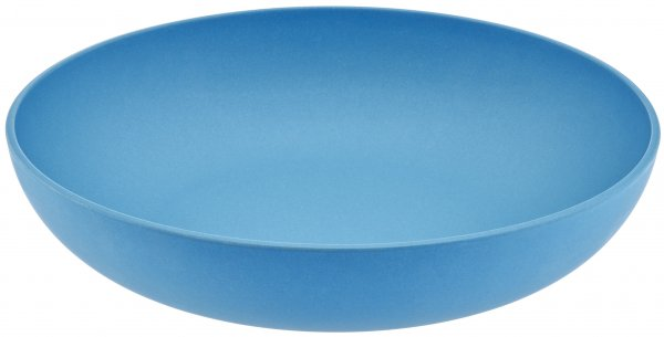 Bamboo fruit bowl 26cm water blue