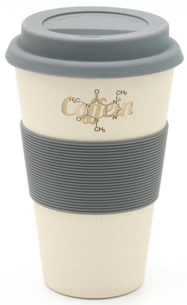 Coffein C8H10N4O2 - Bambus Coffee2go Becher