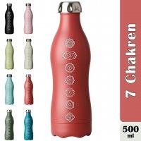Dowabo 7 Chakren Energie 500ml Edelstahl Thermoflasche NEU mit Lasergravur spülmaschinengeeignet Med