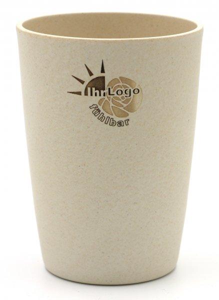 Magu Trinkbecher aus Bambus mit Ihrem Logo GRA VUR