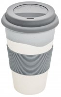 Magu Trinkbecher Coffee to Go Natur-Design silver flow