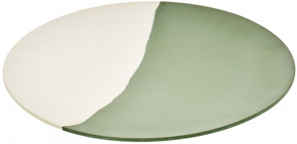 "Bamboo Plate ""LINE"" 23 cm nature white"