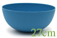 """ROCKY"" Bamboo bowl 27cm water blue"