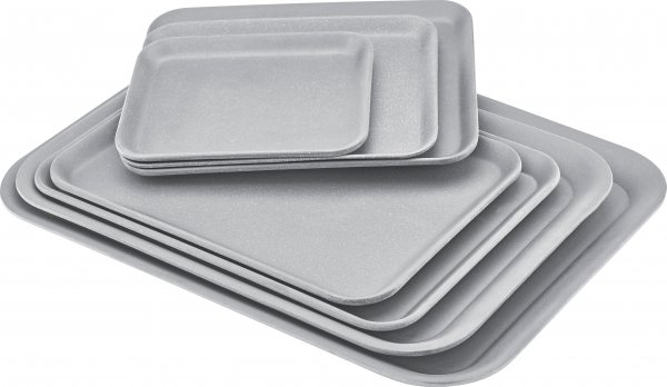 Magu Tablett 43,5x32cm NATUR-DESIGN silber