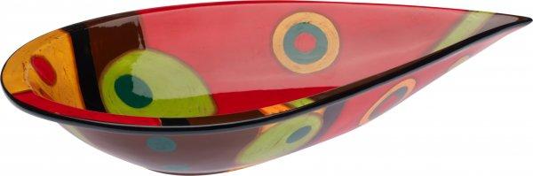 "Schale oval 41cm handbemalt ""SAMBA"" - Magu 190 135"
