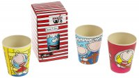"""Ahoi"" Cup set - 3pcs - bamboo cup for kids"