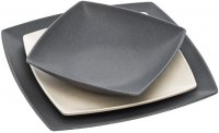 Bamboo plate 20 cm square slate