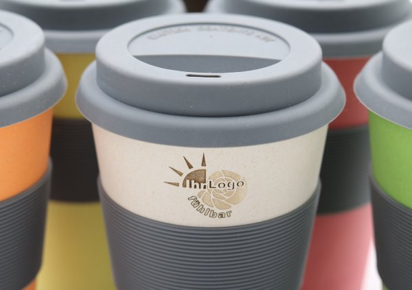 Aktionspaket: 72x Bambus Coffee2go Becher mit Ihrem Logo