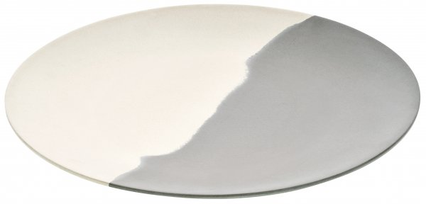 Magu Teller flach 35cm Natur-Design silver flow
