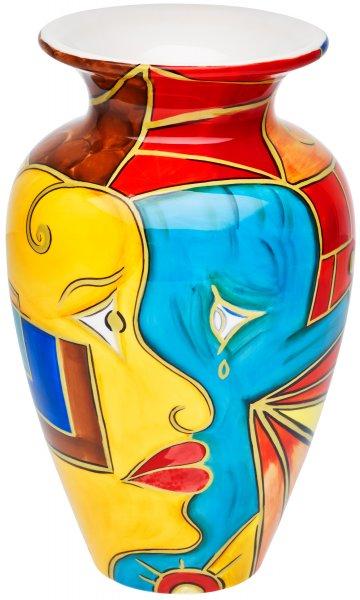 """Vase 25cm handbemalt """"FACE to FACE"""" - Magu 180 853"""