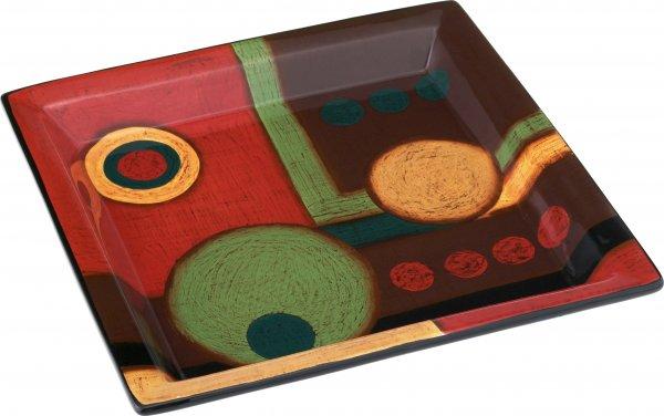 "Keramik Schale eckig 20cm handbemalt ""SAMBA"" - Magu 190 123"