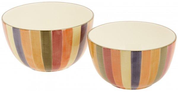 "Keramik Schale rund 25cm handbem. ""KARNEVALE"" - Magu 118 014"