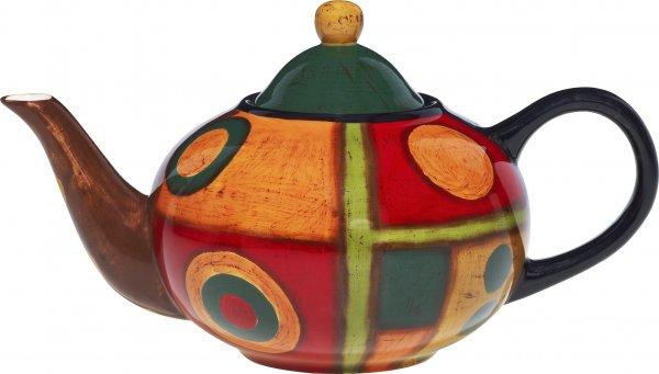 "Keramik Teekanne 0,6 ltr. handbemalt ""SAMBA"" - Magu 190 712"