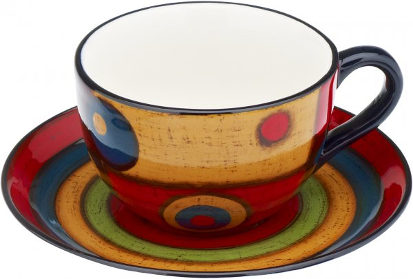 "Keramik Tasse mit Untere handbemalt ""SAMBA"" - Magu 190 490"