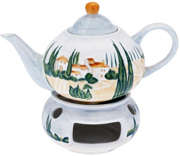 """Keramik Teekanne 1,1 ltr. handbemalt """"SIENA"""" - Magu 125 713"""