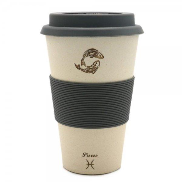 FISCHE - Sternzeichen Bambus Coffee to go Becher - Pisces