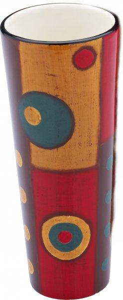 """Keramik Vase 20cm handbemalt """"SAMBA"""" - Magu 190 846"""