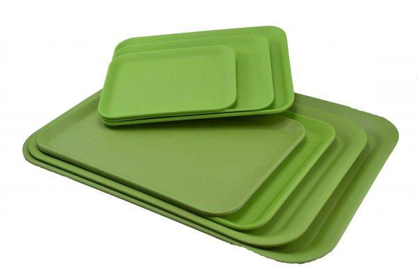 Magu Bambus Tablett flach 39x28cm naturgrün 130 226