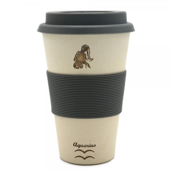 Magu WASSERMANN - Sternzeichen Bambus Coffee to go Becher - Aquarius 135 465