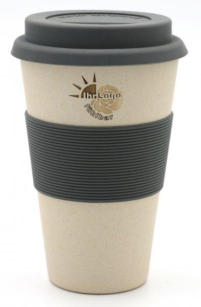 Magu Coffee2go Bambus Becher mit Ihrem Logo GRA VUR