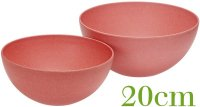 Salad bowl 20cm nature red