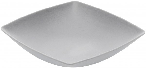 Bamboo plate deep 18 cm square silver