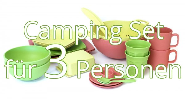 Camping Geschirr Set für 3 Personen