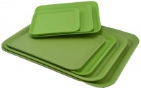 Bamboo Tray flat 27x21 cm nature green