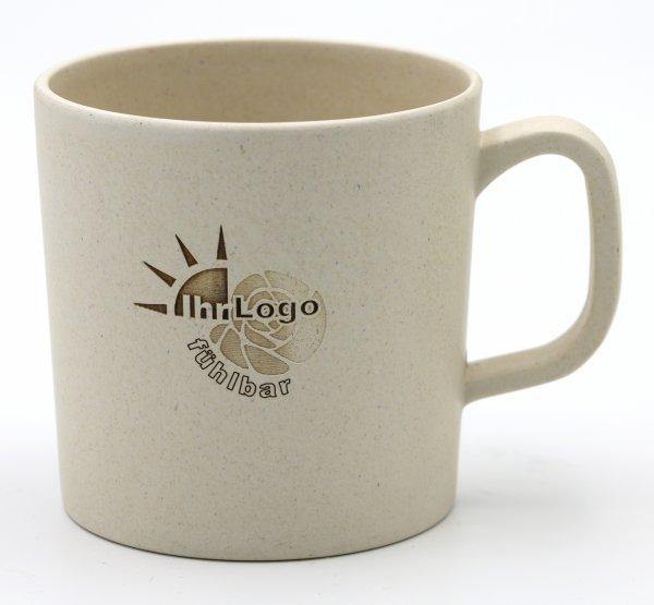Magu Henkelbecher / Tasse aus Bambus mit Ihrem Logo GRA VUR
