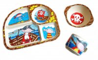 """Pirate"" kids dishes set"