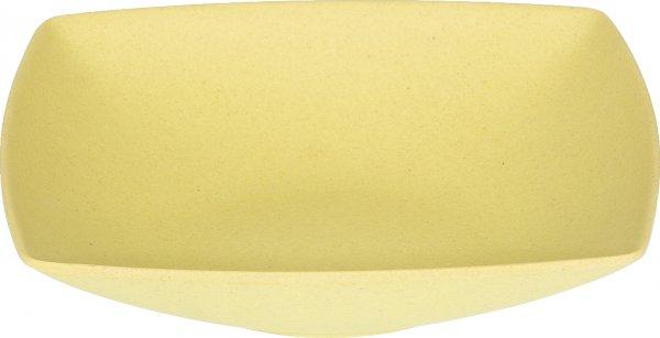 Magu Bambus Teller tief 18cm eckig - Magu - naturgelb 132 325