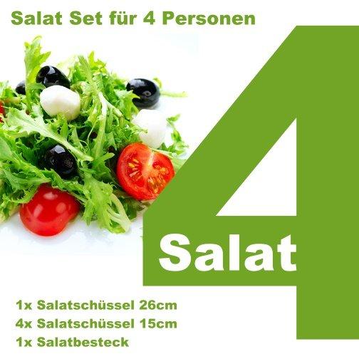 Bambus Salatset für 4 Personen