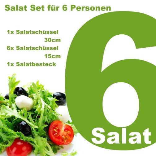 Bambus Salatset für 6 Personen