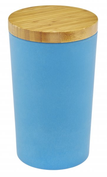 Bambus Vorratsdose mit Deckel wasserblau
