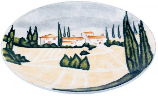 "Keramik Teller tief 22cm handbemalt ""SIENA"" - Magu 125 352"