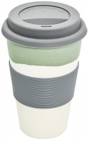 Magu Trinkbecher Coffee to Go Natur-Design green flowTrinkbecher Coffee to Go Natur-Design green flo