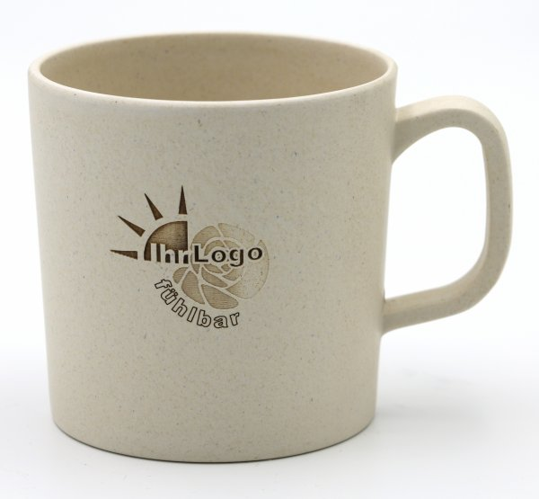 Bambus Henkelbecher mit Ihrem Logo