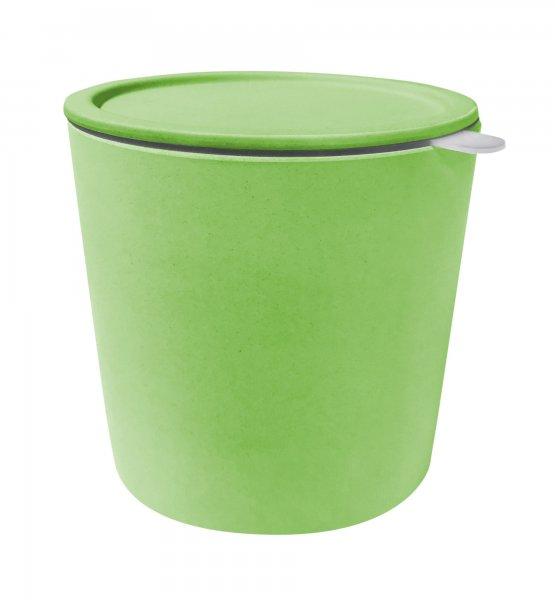 Vorratsdose 15,5cm Höhe (D: 14,5cm) mit Deckel - naturgrün
