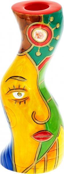 """Leuchter 18cm handbemalt """"FACE to FACE"""" - Magu 180 894"""