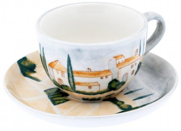 """Teetasse mit Untere handbemalt """"SIENA"""" - Magu 125 490"""