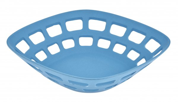 Bamboo breadbasket 24cm water blue
