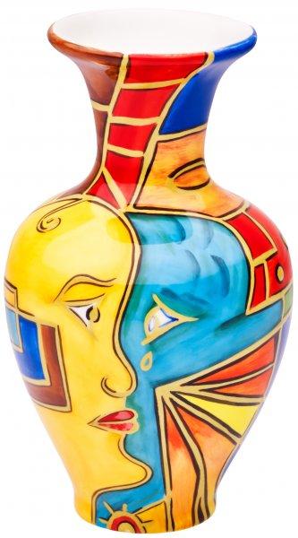 """Vase 15cm handbemalt """"FACE to FACE"""" - Magu 180 851"""