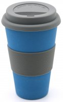 Bamboo Coffee to go cup water blue