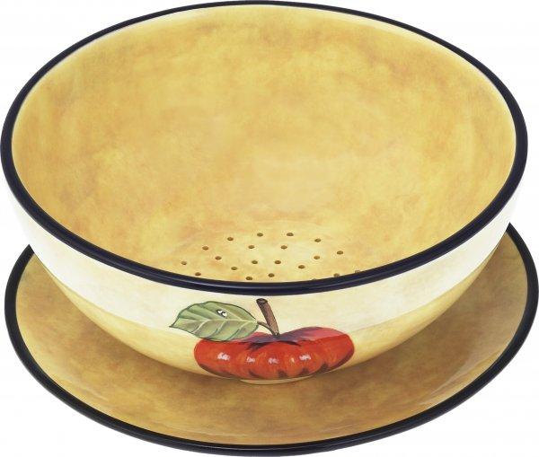 """Keramik Obstwäscher 22cm 2tl handbemalt """"TOSCANA"""" - Magu 120 009"""