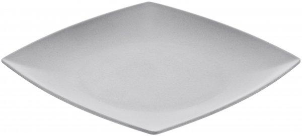 Bamboo plate 25 cm square silver